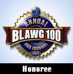 ABA Journal Blawg 100 2011 Honoree
