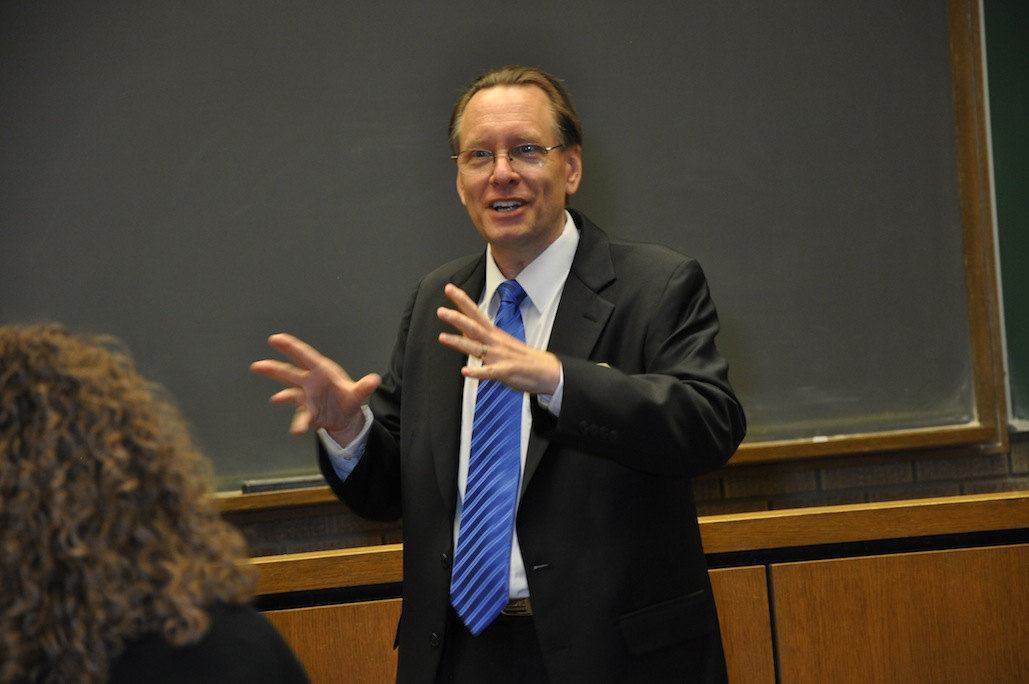 Photo of Prof. Beyer teaching